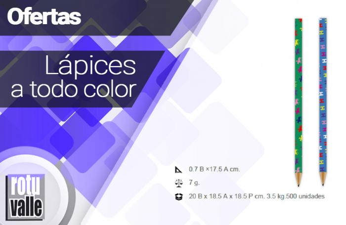 Lápices a todo color varios diseños