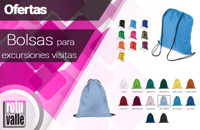 Bolsas para Excursiones, visitas y viajes en promoción
