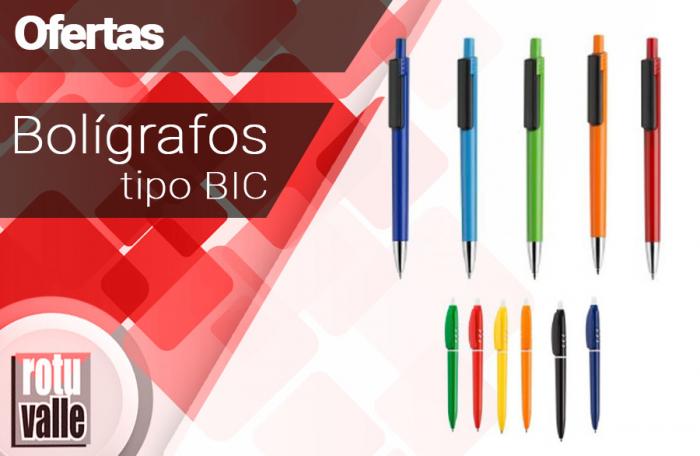Bolígrafos calidad media alta tipo BIC
